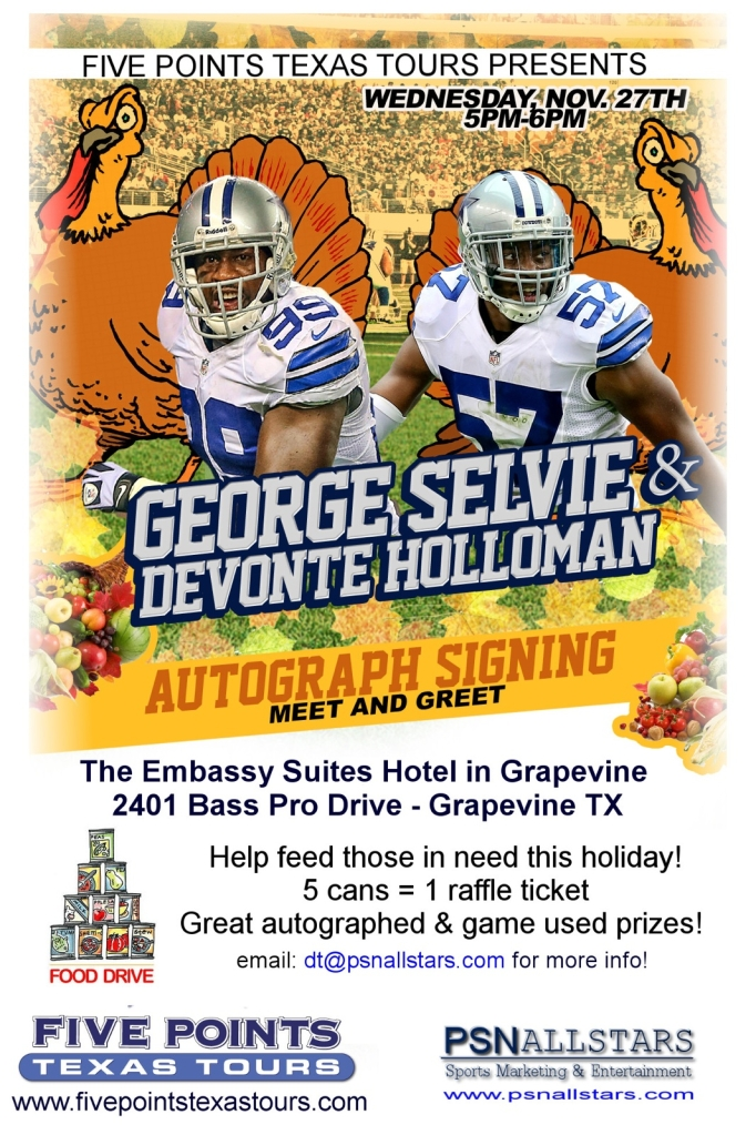 Dallas Cowboys Goerge Selvie Autograph Signing and Meet/Greet On