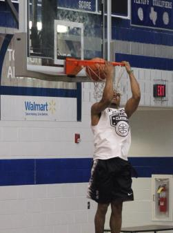 Phil Pressey of Boston Celtics Dunking during Metro Classic Charity Basketball Game